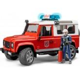 Bruder  Land Rover tuletõrjeauto ja tuletõrjuja, 02596