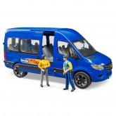 Bruder MB Sprinter koos juhi ja reisijaga, 02670